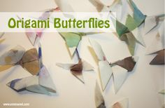 How to Make Watercolor Origami Butterflies with coffee Filter Paper - Outstanding Origami Butterflies  By: Julie Rookmaker from emmaowl.com