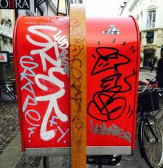 Somewhere in Copenhagen... Nice stuff on these mailboxes... #copenhagen #graffiti #hiphop #bombing by zoro_one