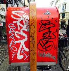 Somewhere in Copenhagen... Nice stuff on these mailboxes... #copenhagen #graffiti #hiphop #bombing by zoro_one