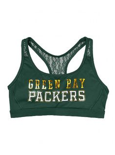 Green Bay Packers Lace Yoga Bra - Victoria's Secret PINK® - Victoria's Secret
