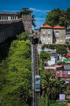 Porto, Guindais funicular - near Douro Douro Portugal, Visit Portugal, Spain And Portugal, Portugal Travel, Algarve, Places To Travel, Places To See, Voyage Europe, Funchal