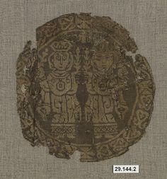 Roundel Date: century Geography: Iraq or Syria Culture: Non-Islamic Medium: Silk Dimensions: H. 5 in. cm) W. 5 in. Seal Of Solomon, Sassanid, Ancient Persia, Silk Road, Byzantine, Islamic Art, Medieval, Vintage World Maps, Syria