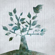 shrub++Art++illustration++Children+Wall+Art++digital+by+aliette,+$24.00