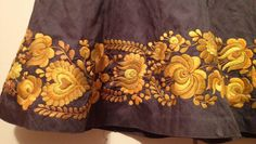 Second hand grey skirt with yellowH size 12 UK by varazsneedle, $70.00