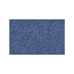 WaterGuard Brittany Leaf Indoor Outdoor Mat, Blue