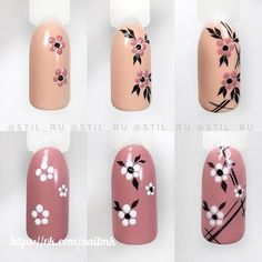 Make an original manicure for Valentine's Day - My Nails Nail Art Hacks, Nail Art Diy, Easy Nail Art, Diy Nails, Swag Nails, Cute Nails, Manicure, Trendy Nails, Nail Art Designs Videos