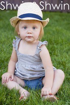 Shwin&Shwin: A Summer Tunic || Free PDF Pattern - Size 12 - 18 month girls