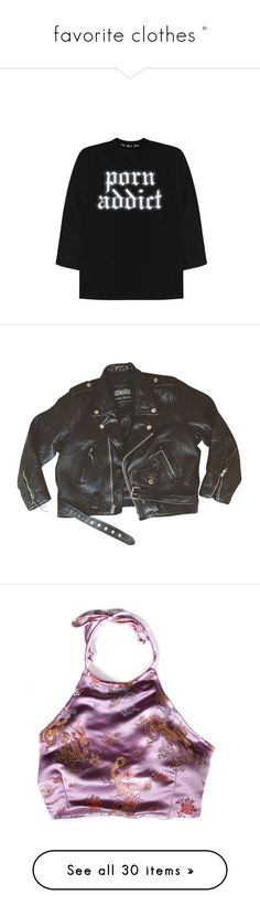 """""""favorite clothes °"""" by trashmouth-tozier ❤ liked on Polyvore featuring tops, shirts, shirt top, outerwear, jackets, coats, black, genuine leather jacket, leather jackets and real leather jackets"""