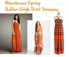 """""""Mischievous Spring: Halter Dresses"""" by jeaninebyers on Polyvore"""