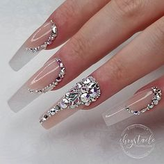 """""""your success is our reward"""" – Ugly Duckling Nails Inc. """"your success is our reward"""" – Ugly Duckling Nails Inc. Acrylic Nails Coffin Glitter, Best Acrylic Nails, Stiletto Nails, Glitter Nails, Acrylic Art, Diamond Nail Designs, Diamond Nails, Nail Art Designs, Nails Design"""