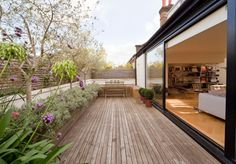 lovely enclosed deck.