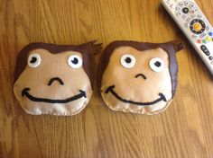 Curious George rattles and more on FB at Little Blessings Gifts