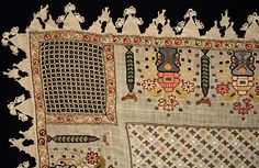 IMM Collections Hand Embroidery, Elsa, Ottoman, Quilts, Ornaments, Blanket, Artwork, Fabric, Crafts