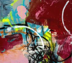 Red Painting 2012 Acrylic, spray paint, ink and house paint on wood 42x48 inches H • E • N • S • E