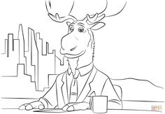 Peter Mansbridge From Zootopia Coloring Page Category Select 30459 Printable Crafts Of Cartoons Nature Animals Bible And Many More