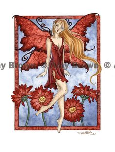 PRINTS-OPEN EDITION - Flower Faeries - Amy Brown Fairy Art - The Official Gallery (April Daisy)