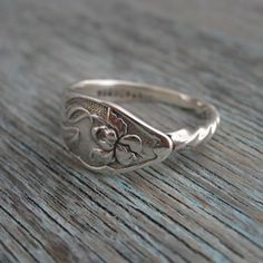 Rings made from antique silver spoons