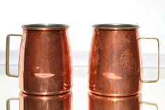 Set of 2 Vintage Copper Moscow Mule Mugs With by ElectricMarigold, $39.99