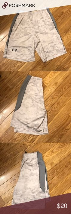 Men's Under Armour shorts Gray camo shorts size Medium. Worn a few times Under Armour Shorts Athletic