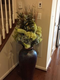 Dark Floor Vase Different Arrangement
