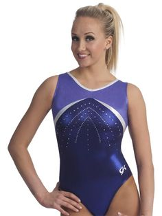 Jeweled V-neck Tank Gym Leo from GK Elite Gymnastics Wear dce4e171373
