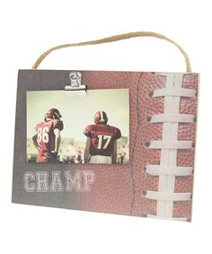 Another great find on #zulily! Football 'Champ' Clip Photo Board #zulilyfinds
