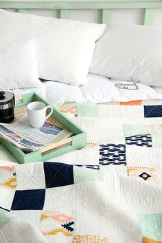 One of the things I love about simple quilts is the opportunity to let beautiful fabric do all the talking.