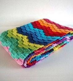 Yarn Remnants Crochet Blanket