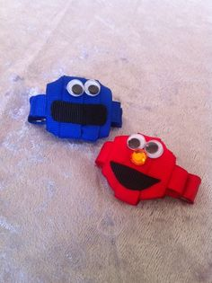 Elmo and Cookie Monster inspired Ribbon by SweetTangerineBoutiq, $5.00