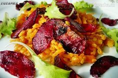 Šalát z červenej šošovice, mrkvy a červenej repy (fotorecept) - Recept Other Recipes, Tandoori Chicken, Salads, Paleo, Beef, Ethnic Recipes, Fit, Foods, Salad
