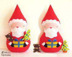 Santa Claus Doll Sewing Pattern PDF Father di DollsAndDaydreams