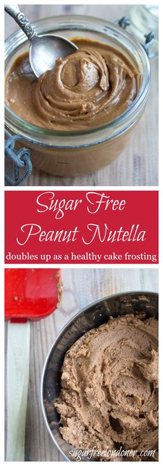 Combining two favourite breakfast spreads into one: This healthy sugar free peanut nutella is so simple to make and great on bread or waffles. With a small adjustment, you can turn it into a delicious cake frosting.