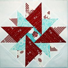 Modern Star Block Tutorial-love this block...Sew Cherry in the middle:)