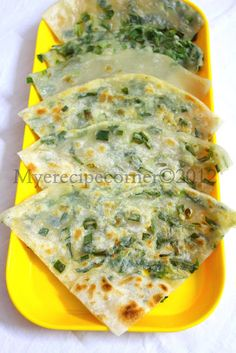 Speciality Recipes From My(e) Kitchen.: Cong You Bing( Chinese Scallion Pancake Recipe)