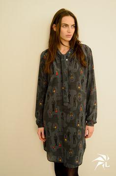 Anita Dress British Silk.