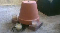 Candle Powered Air Heater - DIY Radiant Space Heater - flower pot heater...Great to have for emergency power outages during cold weather. Think I will make a few of these just in case.