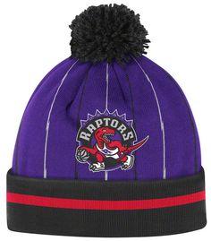 Toronto Raptors Mitchell & Ness Jersey Stripe Cuffed Knit Hat