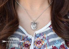 """18"""" Silver Bow Diffuser Necklace"""