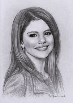 Selena Gomez Drawing by thedrawinghands