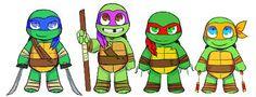 ninja turtle cute - Google Search
