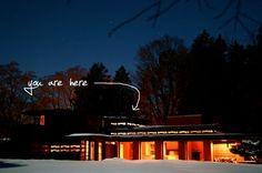 "Frank Lloyd Wright - Bernard Schwartz House - Two Rivers, Wisconsin 1939 ""Still Bend"" Casas De Frank Lloyd Wright, Frank Lloyd Wright Homes, Dream Home Design, House Design, Usonian House, Prairie House, Two Rivers, House Built, Dream Vacations"