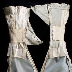 THIS IS WHY couture garments are worth thousands.  Interior back unfastened, KSUM 1995.17.576..