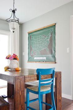 RedBirdBlue: Pinterest Challenge - Chalk Board Map!