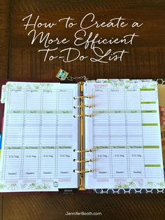 How to Create a More Efficient To-Do List (v)