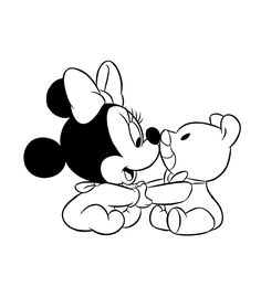 minnie baby coloring pages 2