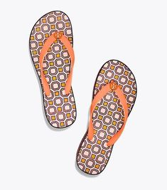 740d58491 New Tory Burch Octagon Wedge Flip Flops Fresh Melon Ballet Pink Size 10   ToryBurch