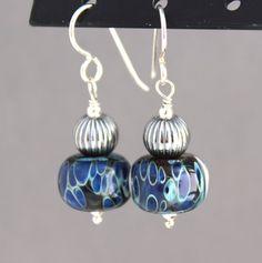 Lampwork Earrings Glass Earrings Sterling by SerendipityByErin
