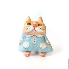 Игрушки животные, ручной работы. Ярмарка Мастеров - ручная работа. Купить Тестильная игрушка Кошечка Ляля. Handmade. Голубой