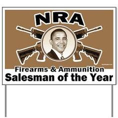 Firearms & Ammo Salesman Yard Sign