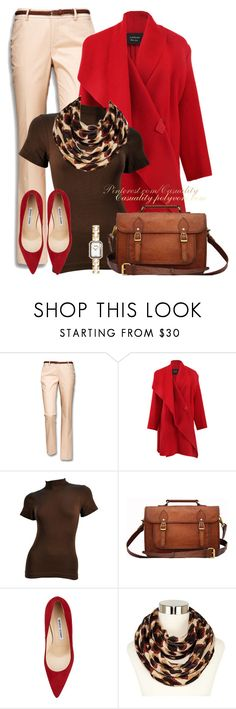 """Leather Messenger Bag & Classy Leopard Accent"" by casuality ❤ liked on Polyvore featuring Mexx, Lanvin, Retrò, Manolo Blahnik, Liz Claiborne and Chanel"
